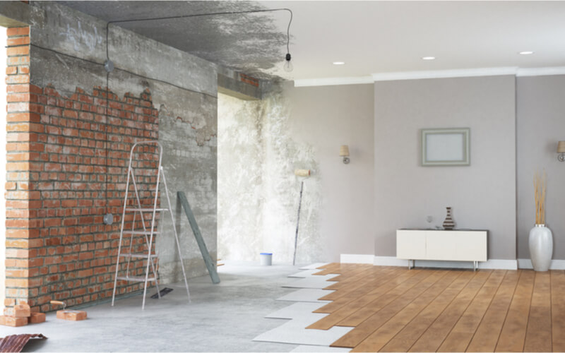 prix cout travaux renovation appartement 80m2